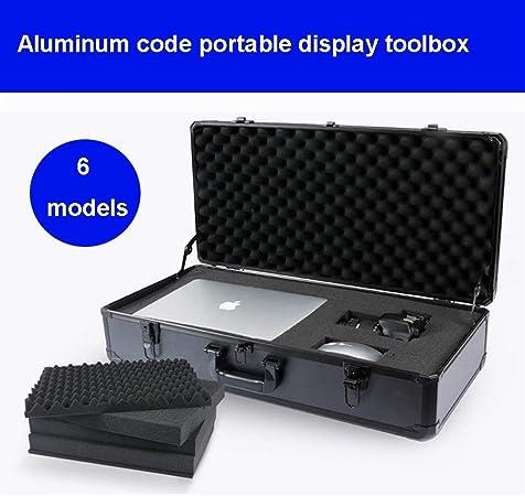 Caja de almacenamiento de herramientas Caja de herramientas de aluminio Maleta Caja de herramientas Caja de archivos Equipo resistente a impactos Caja de cámara Caja de exhibición de productos con esp: Amazon.es: