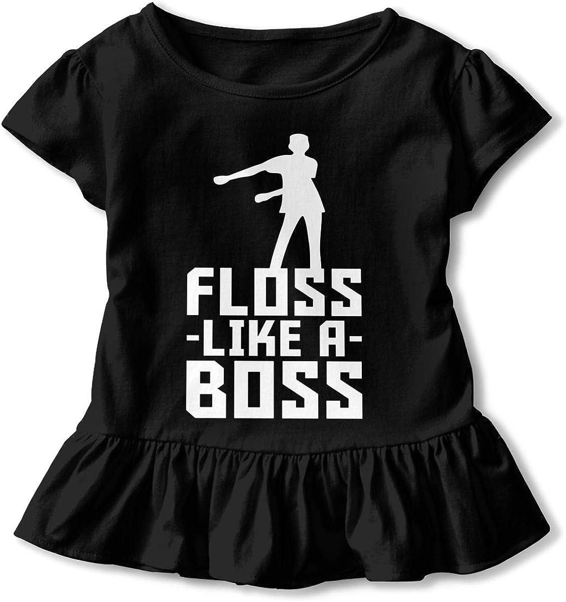 Floss Like A Boss 1 Girls Short Sleeve Cotton Tee Tops