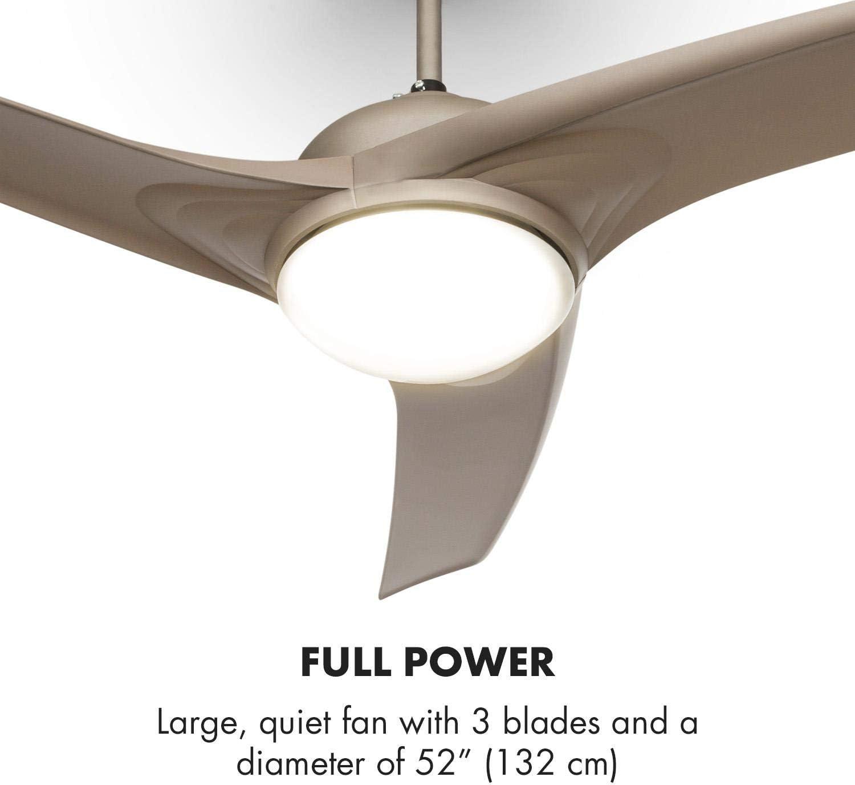 Klarstein Figo – Ventilador de techo con iluminación de titanio y ...