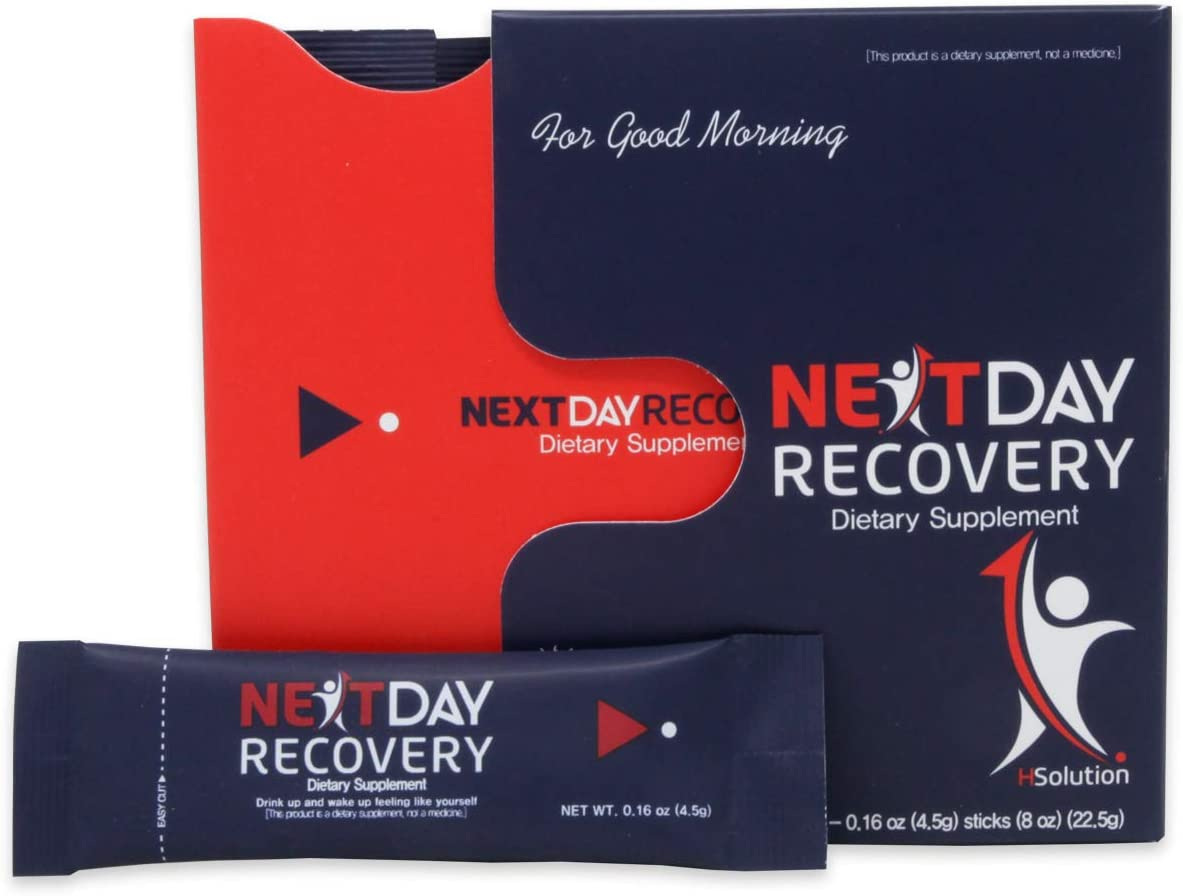 Next Day Recovery Hangover Cure – All Natural Hangover Prevention Supplement – Smart Anti Hangover Remedy for Liver Support – Morning Recovery Drink After Alcohol Aid for Hangovers 50
