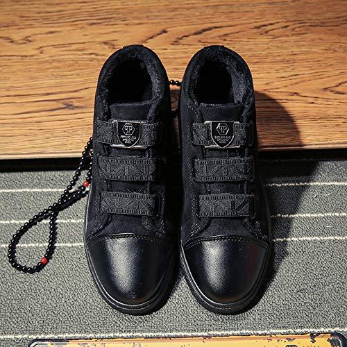 LOVDRAM Stiefel Männer Winter Verdickend Hoch, Um Faule Schuhe Zu Helfen Verdicken Beiläufige Warme Studenten Soziale Gruppe Rote Schuhe Männer Schuhe