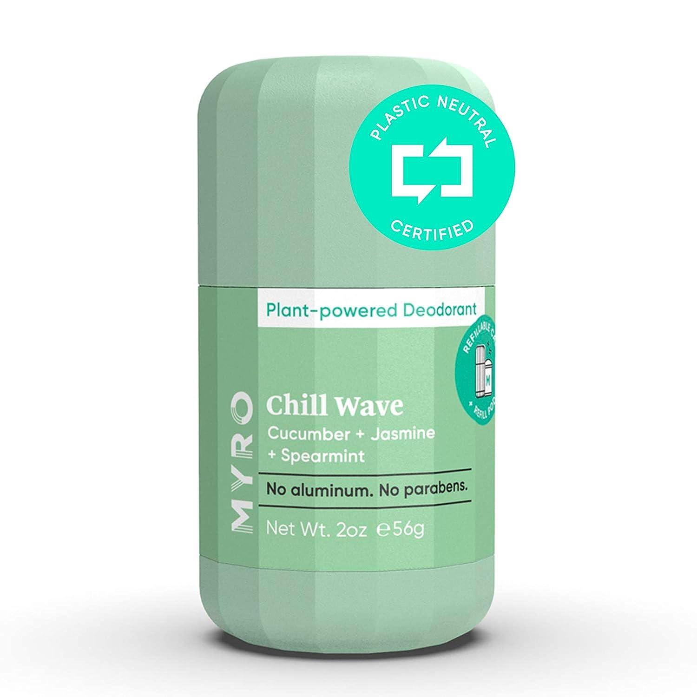 Myro Deodorant | Plant-based, Aluminum Free, Baking Soda Free, Cruelty Free & Vegan – Chill Wave Scent with Cucumber, Jasmine, Spearmint