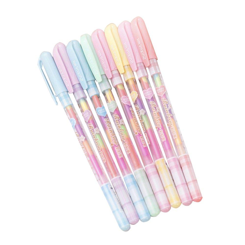 Ruikey 1pz penna gel sei combinazione di colori gouache penna roller a inchiostro gel scuola forniture ufficio cancelleria 0.8mm