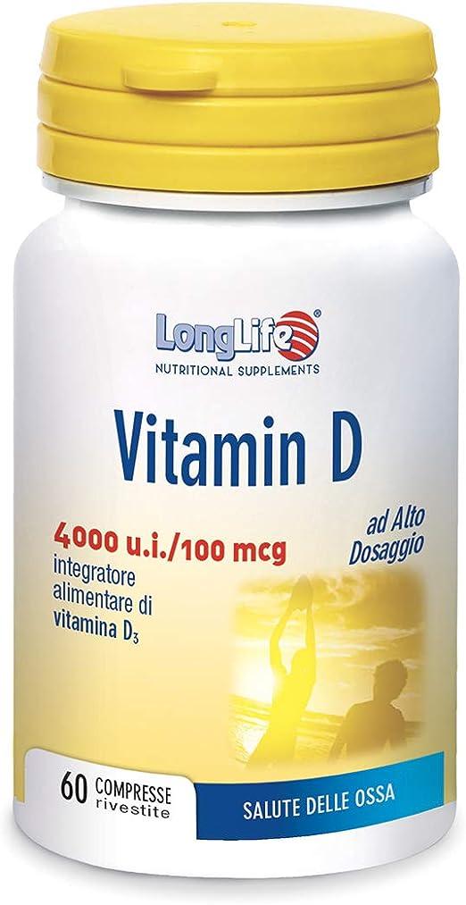 Integratore di vitamina d longlife vitamin d 4000 u.i. - 20 gr 8054521003486