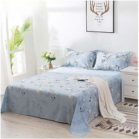 Yubing Láminas Florales 100% algodón Patrón de Flor de Sarga Azul Individual Doble Tejido para el hogar Textiles para el hogar Cuatro Estaciones (Size : 160 * 230cm): Amazon.es: Hogar
