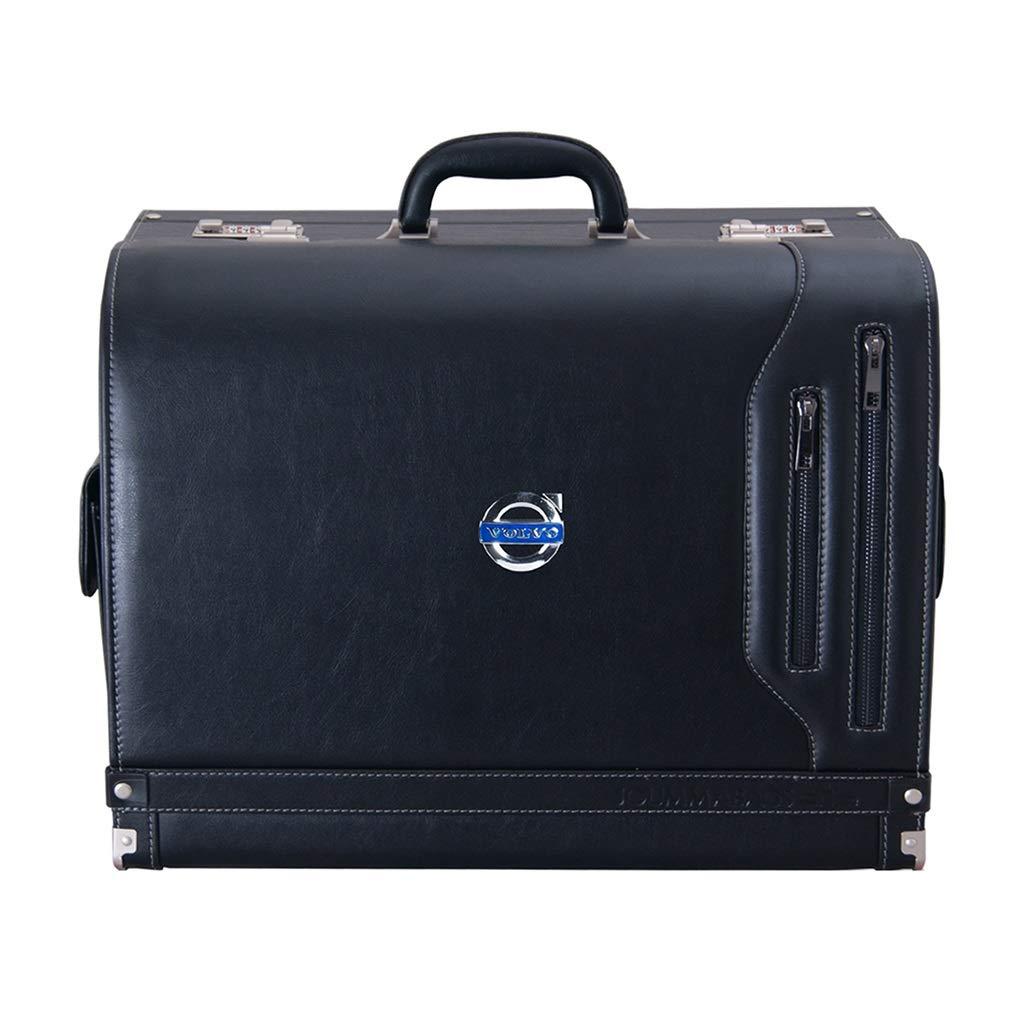 Car Storage Box Car Organiser Trunk Storage Box Non-Slip Waterproof Storage Box Applicable to Various Models (Color : Black, Size : 483038cm)