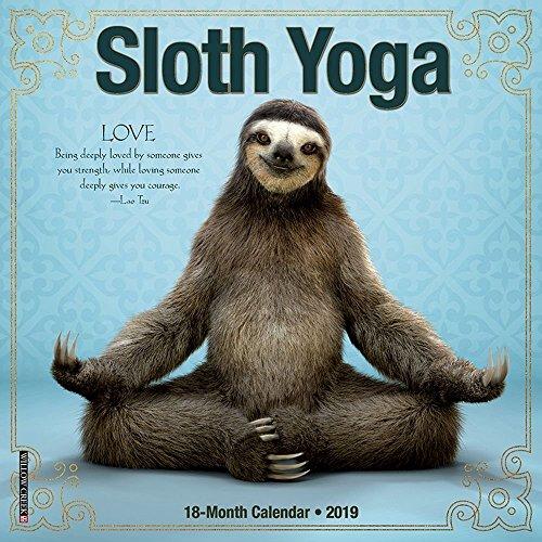 Sloth Yoga Mini 2019 Wall Calendar