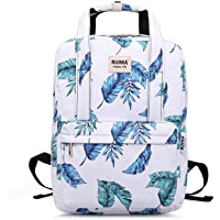 RUIMA School Backpack Casual Fashion College School Bookbag fits 14 Inch Laptop Daypack Unisex with Luggage Strap