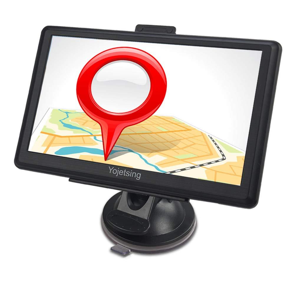 GPS Navi Navigation fü r Auto PKW 7 Zoll LKW Navigationsgerä t mit Lebenslang Kostenlosem Kartenupdate Blitzerwarnung POI Sprachfü hrung Fahrspurassistent 2018 Karten fü r 52 EU UK Lä nder-Yojetsing FH-YJS