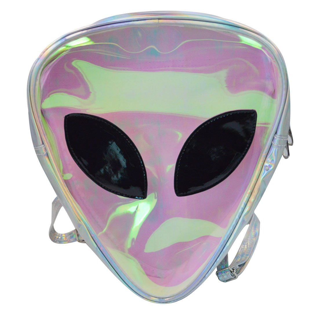 09fb7cd0afd Amazon.com   Goodbag Boutique Women Mini Holographic Laser Backpack for  Girls Clear Alien Small Backpack for Festival, Balls, Club, Prom   Kids   Backpacks