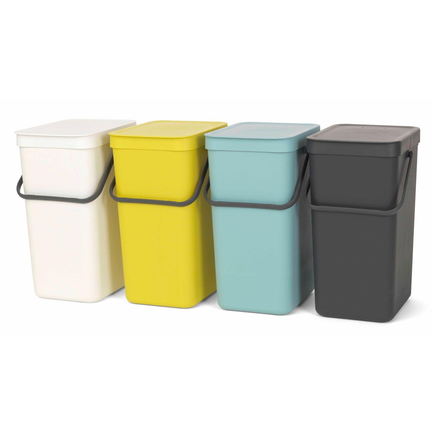 Brabantia Sort & Go Waste Bin, Plastic, Grey, 16 Litre: Brabantia ...