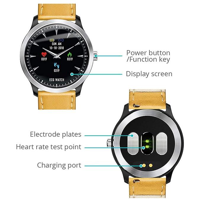 Smartwatches N58 ECG PPG Reloj Inteligente con Pantalla de ECG ...