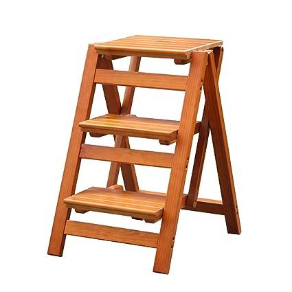 Taburete de 3 escalones Madera de roble, Escaleras de cama ...