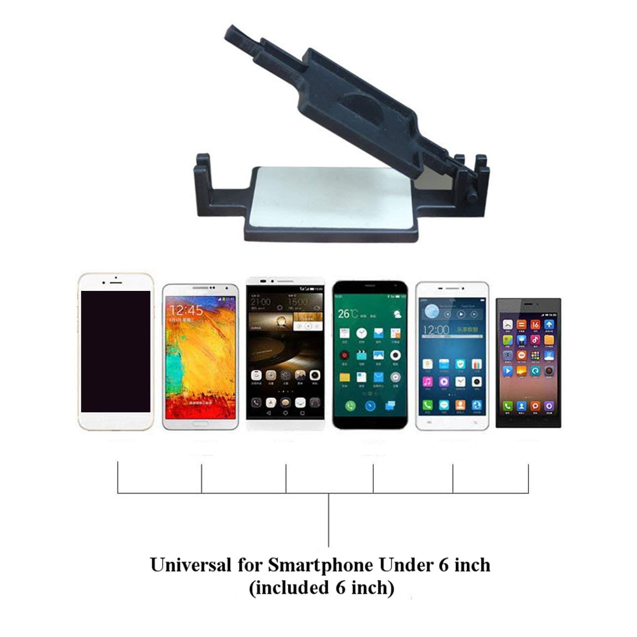 Liobaba Tempered Screen Protector Film Pasting Tool Installation Helping Device for Smartphone Under 6 Inches