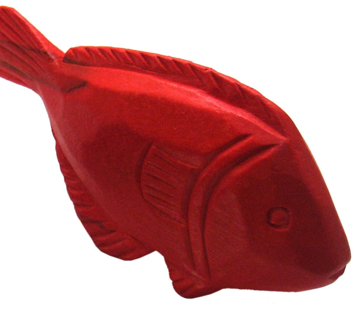 Miniature Food Red Fish Pretend Play Kitchen handcarved Role Play Grocery Shop accessoires