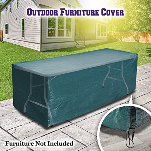 Patio Outdoor Garden Table Furniture Set Cover 250CM L x 77CM W x 74CM PatioProtective Protector-Green