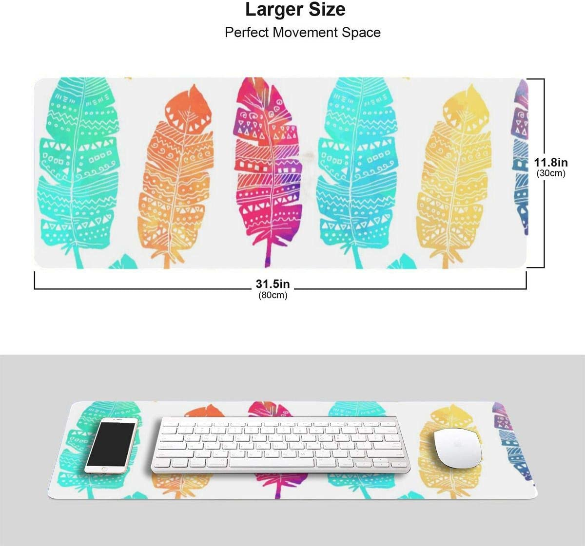 Painted Donut Professional Large Mouse Pad Keyboard Pad Long Extended Multipurpose Computer Game Mouse Mat
