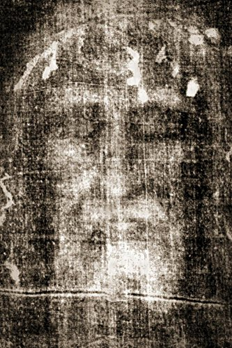 Laminated Shroud of Turin Face Detail Photo 24 x 36in by GCO PUBLICATIONS