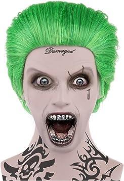 Joker estilo verde disfraz peluca malvada adultos tamaño hm-045 ...