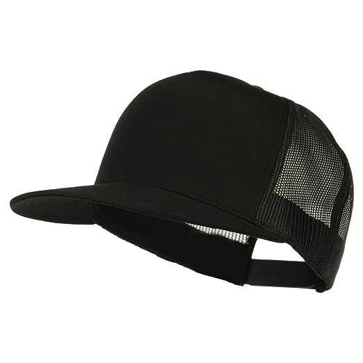 993ec434dad331 5 Panel Mesh Trucker Snapback Cap - Black OSFM at Amazon Men's ...