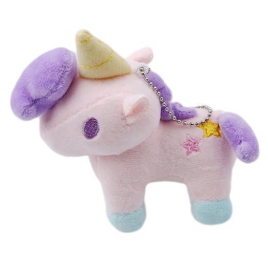 Hengsong rosa unicornio peluche juguete Cartoon muñecas ...