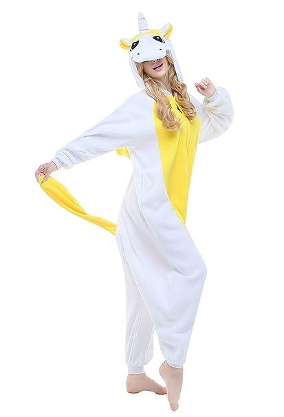 Amazon.com  CANASOUR Adult Unisex Unicorn Onesie Anime Cosplay Pajamas   Clothing 0c7c1941b