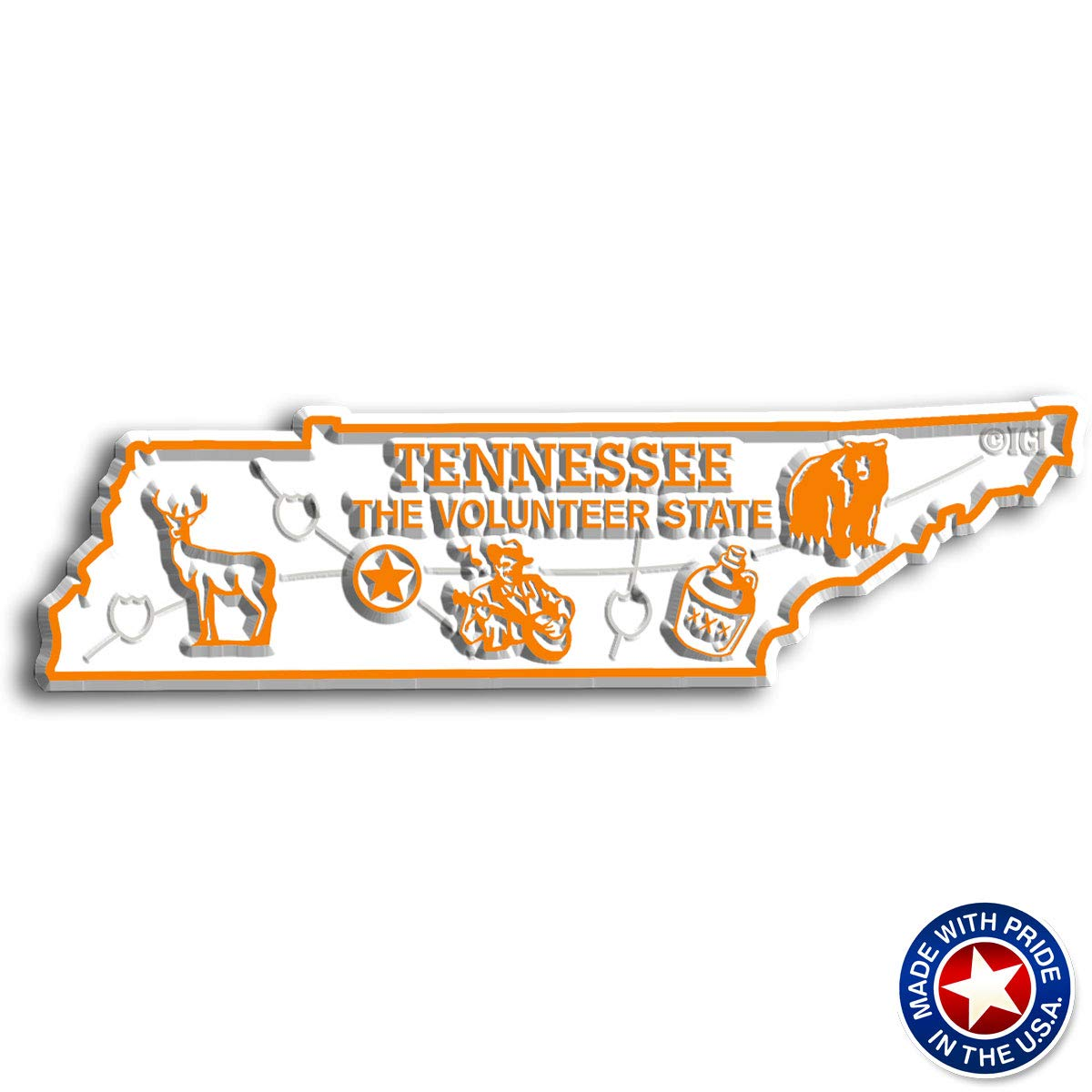 Tennessee State Map Magnet