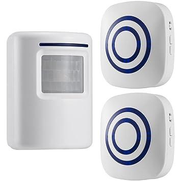 gzcrdz inalámbrico entrada alerta: Sensor de movimiento por infrarrojos timbre alarma timbre inalámbrico con 1 Sensor y 1 receptor - timbre canciones ...