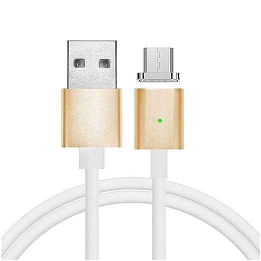 44 opinioni per First2savvv oro Super Forte Cavo micro USB con calamita. Connessione magnetica