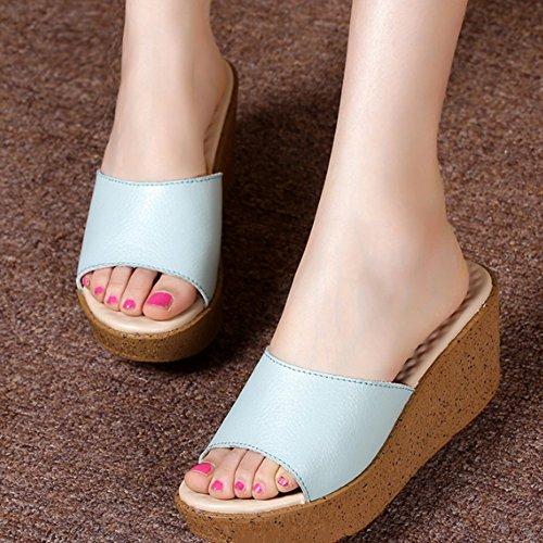 high A Pantofole formato esterni con estate 3 femminili Colore dime B facoltativi pattini heeled facoltativo colori antisdrucciolevoli pantofole pantofole esterni le spesse di di di usura modo aqrawF1O