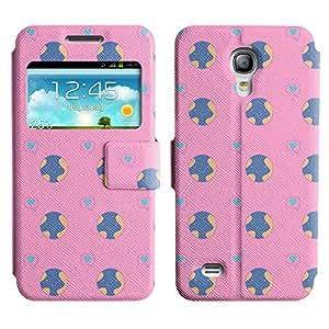 Be-Star Diseño Impreso Colorido Slim Casa Carcasa Funda Case PU Cuero - Stand Function para Samsung Galaxy S4 mini / i9190 / i9192 ( Love Earth )