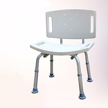 ZHGI Ältere Baden Stuhl mit Rückenlehne Armlehne, Badezimmer Hocker ...