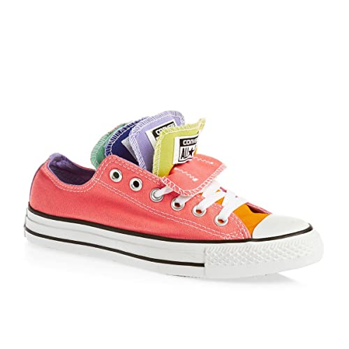 c8922fbe8a16 Converse Chuck Taylor All Star Multi Tongue Lo Top Pink Womens 7 ...