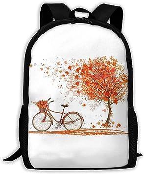 Mochila para Adultos con Estampado de Arce y Bicicleta Mochila de ...