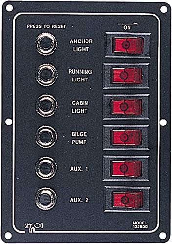 Seadog Panel Circuit Breaker ACDC 6 CIR