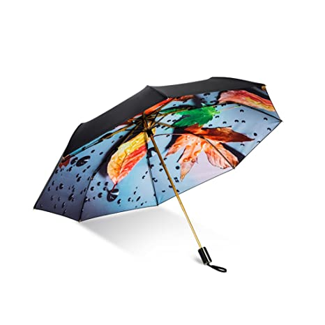 Good Dream Sunny Dual Umbrella Black Sun Protección UV Paraguas Plegable Travel Mini Paraguas Umbrella (