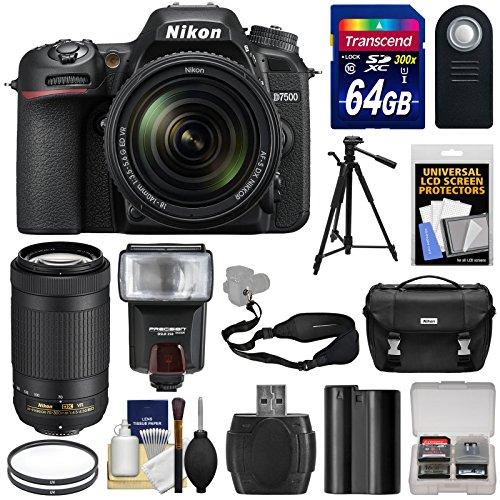 nikon-d7500-wi-fi-4k-digital-slr-camera-with-18-140mm-vr-70-300mm-vr-dx-af-p-lens-64gb-card-battery-