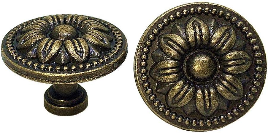 4pcs Blumen Muster Möbelknöpfe Schrankknöpfe Knöpfe für Schrank