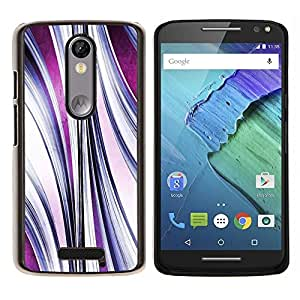 Stuss Case / Funda Carcasa protectora - Flujo abstracto púrpura - Motorola Moto X ( 3rd Generation )