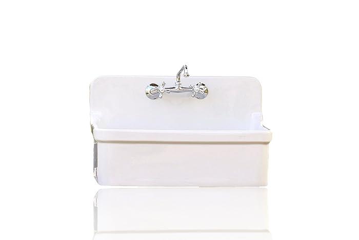 Amazon Com Vintage Style High Back Farm Sink Large Drain Kitchen