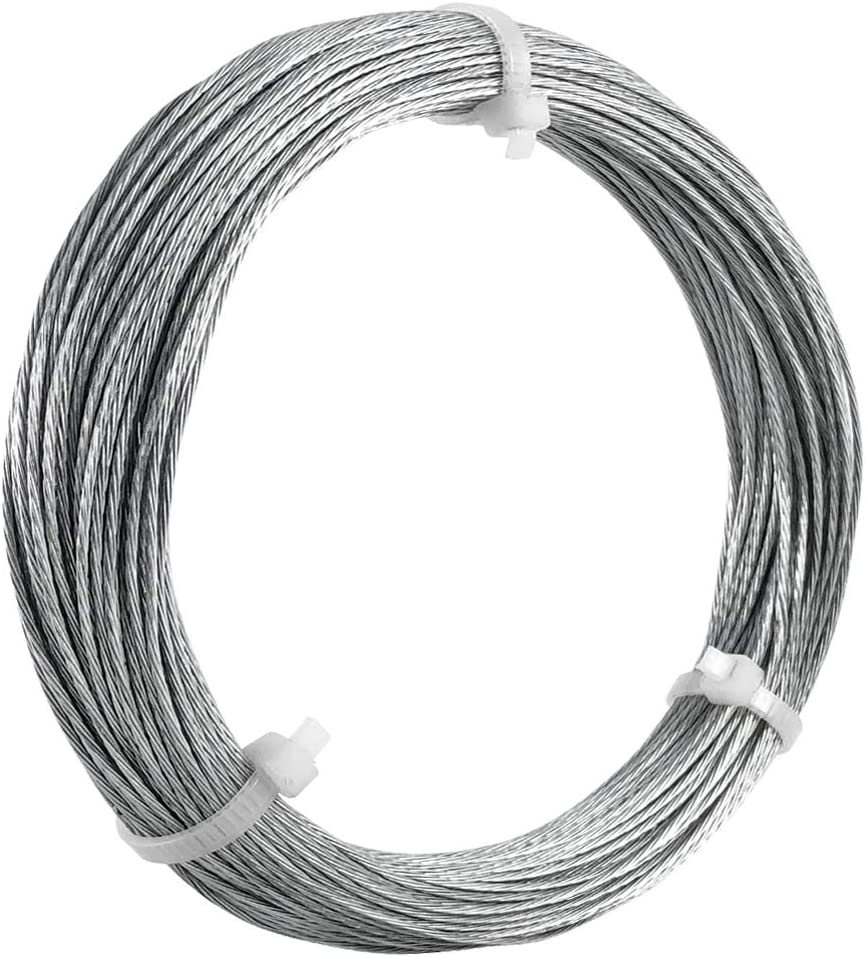 HangDone Picture Hanging Wire #3 100-Feet Supports up to 30lbs