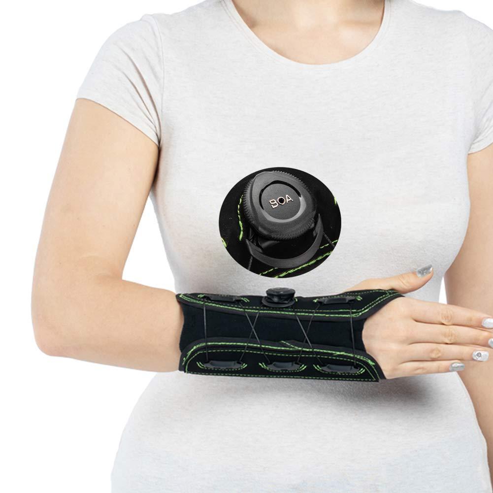 Carpal Tunnel Wrist Brace,Night Wrist Sleep Support with Advanced BOA Technology Brace for Wrist Sprain, Arthritis, Tendonitis Pain Relief-Right Hand Medium