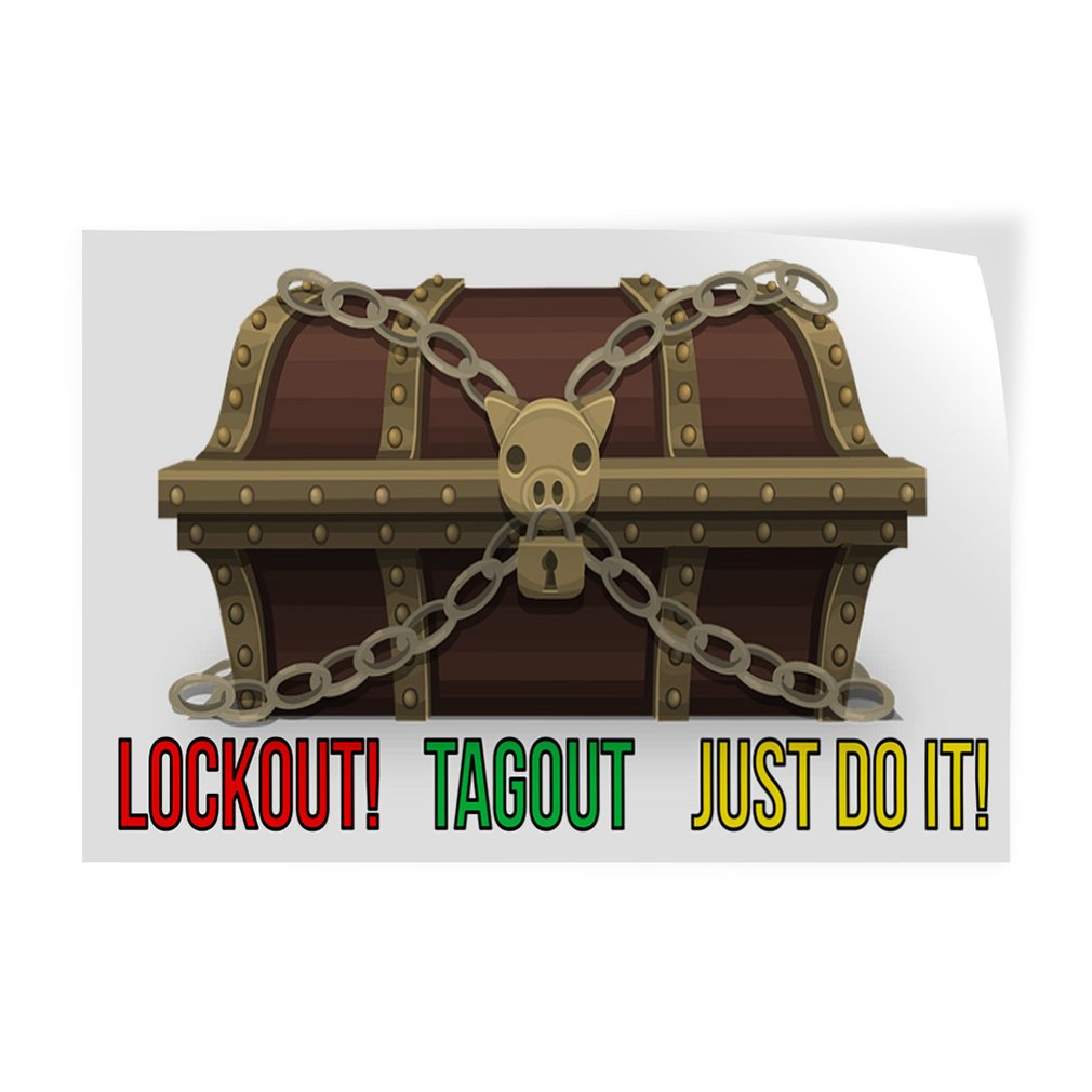 Set of 2 Decal Sticker Multiple Sizes Lockout Tagout Just Do It Business Tagout Outdoor Store Sign White 54inx36in