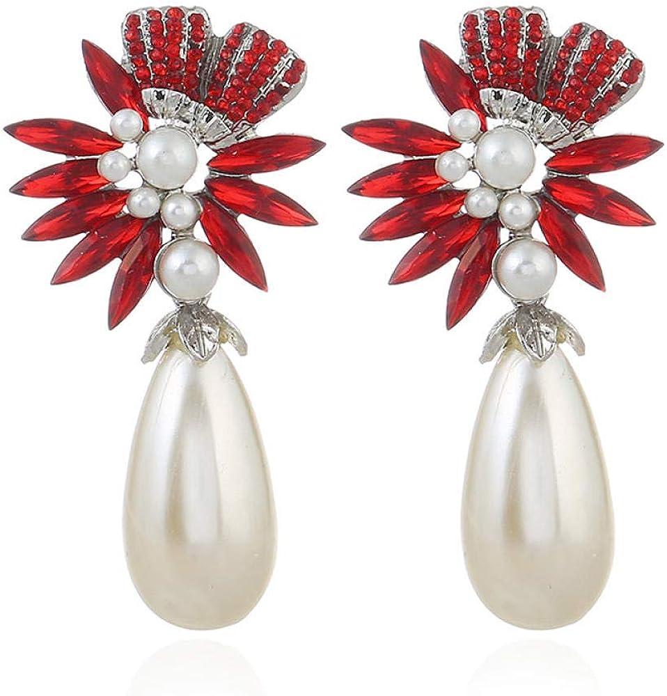 Pendientes retros colgantes, Pendientes de perlas, Regalo para el Día de la madre,Pendientes de perlas