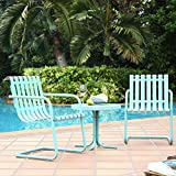 Crosley '3 Piece Gracie Metal Outdoor Conversation Seating Set with 2 Chairs and Side Table', Caribbean Blue Review