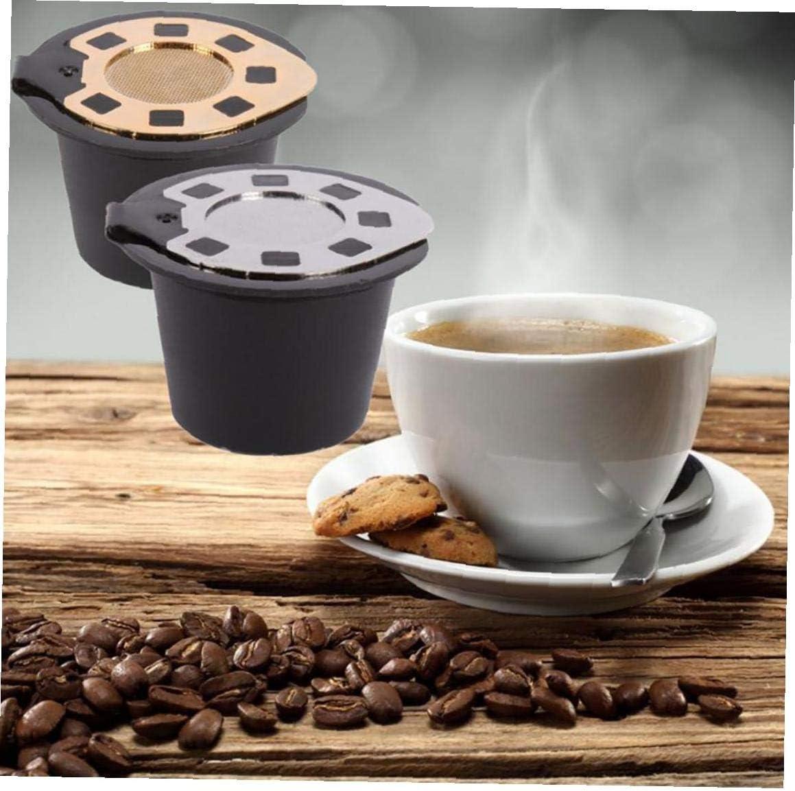 oro Chapado 1pc De Acero Con Tapa De C/ápsulas De Caf/é Nespresso Para Cafetera De Filtro Reutilizable Ecol/ógica 3-5 G Al Caf/é Molido