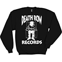 Ripple Junction Death Row Records Adult Unisex White Logo Fleece Crew Sweatshirt