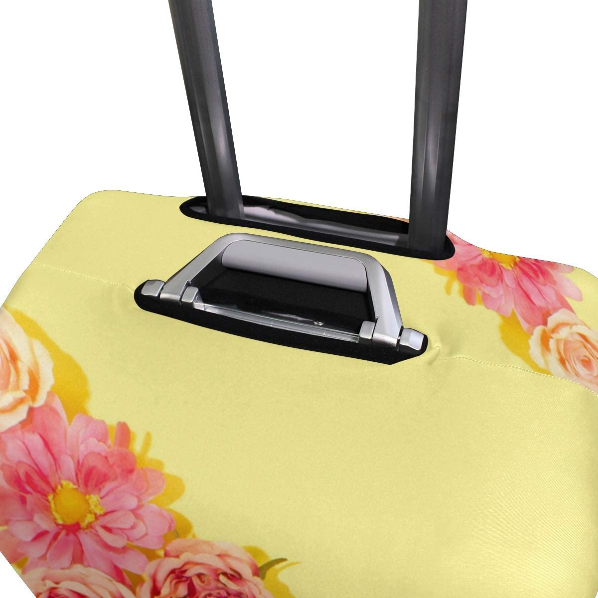 Travel Luggage Cover Flowers Prismatic Suitcase Protector Fits 18-20 Inch Washable Baggage Covers