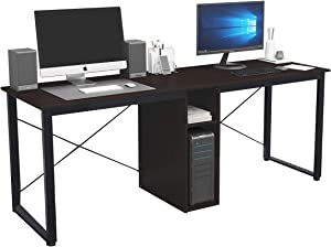sogesfurniture 78 inches Large Double Workstation Dual Desk Home Office Desk 2-Person Computer Desk Computer desks with Storage, Black BHUS-LD-H01-BK