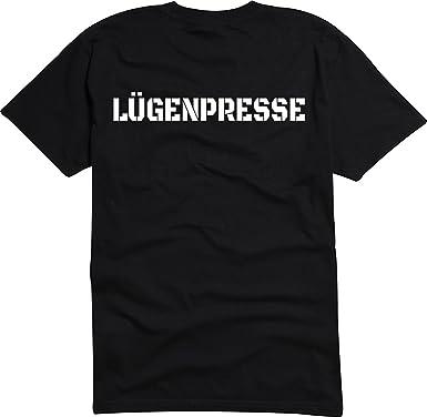 T-Shirt Herren schwarz -lügenpresse- S